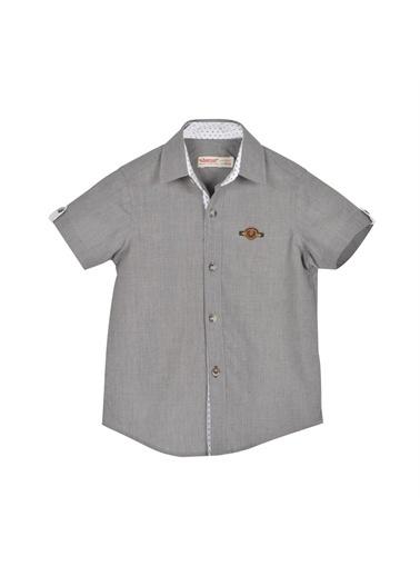 Silversun Kids Erkek Çocuk Kolları Düğme Detaylı Kısa Kollu Dokuma Gömlek Gc 216266 Gri